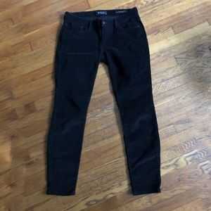 Guess soft corduroy black skinny pants 28